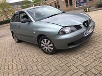 2003 SEAT IBIZA 1.2 PETROL MANUAL 5 DOOR HATCHBACK GOOD DRIVE LONG MOT 5 SEAT NO POLO CORSA ASTRA KA