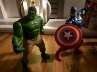 HASBRO 10 inch Hulk and Captain America