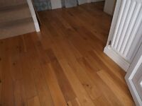 Solid Oak Flooring, Opportunity for experienced woodworker. appx 50 sq metres.