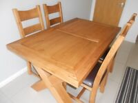 Dining room/kitchen table and 4 chairs