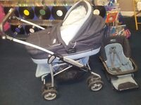 mamas and papa mpx travel system pram/pushchair