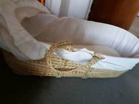 Moses waffle basket/baby