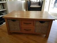 Dunelm solid oak coffee table.