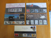 ROYAL MAIL MINT STAMPS (FIVE PACKS)