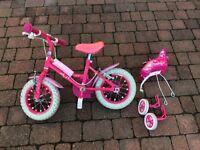 """Girls 12"""" wheel bike"""