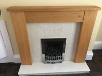 Wooden Fireplace Surround and Hearth