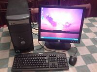 Dell PC with monitor and keyboard