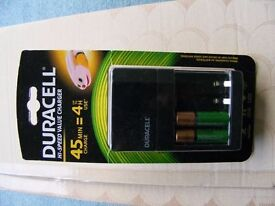 Duracell Hi-speed value charger 45 min charge time. Brand new, unopened box