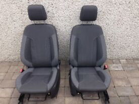 Ford Fiesta Mk7.5 2014 Zetec S Front and Rear Seats