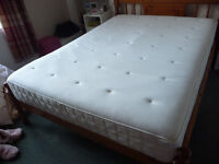 IKEA HYLLESTAD Pocket sprung MATRESS STANDARD DOUBLE 140X200 PERFECT CONDITION COLLECT LEITH SHORE