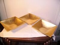 3 GOLD PAINTED BOWLS.