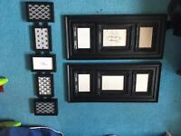 Black photo frames .