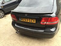 Saab 93 black rear boot with spoiler