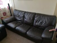 DFS sofabed 3 seater leather king-size