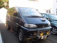 2006 REG MITSUBISHI DELICA 4X4 2.9 DIESEL AUTO 8/SEATER YEARS MOT POSS PARTX