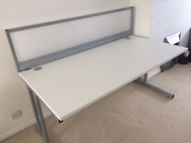 White desks 1600mm X 800mm-10 in stock
