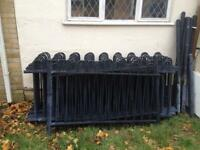 Jackson bow topped steel fencing panels with fixings