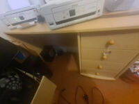 desk with 3 draws