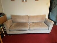 3 & 2 Seater Fabric Sofas, read full description