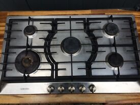 Miele gas hob stainless steel