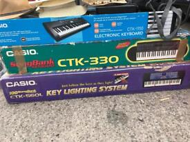 Job lot of Casio keyboards