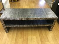 Blackened silver embossed TV unit / Coffee table