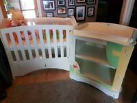 Disney Winnie the pooh nursery set baby bed changing table dressing furniture