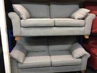 NEW/EX DISPLAY NEXT SAIDE GREY 3 + 2 SEATER SOFAS, SUITE, SETTES 70% Off RRP