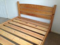 Warren Evans King Size Bed Frame - Solid Wood - With Sliding Storage Drawer