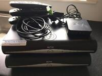2x sky plus HD Boxes, on demand box, all cables, HDMI leads, 3 remotes & router
