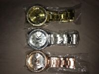 Micheal Kors watches 3 colours new condition