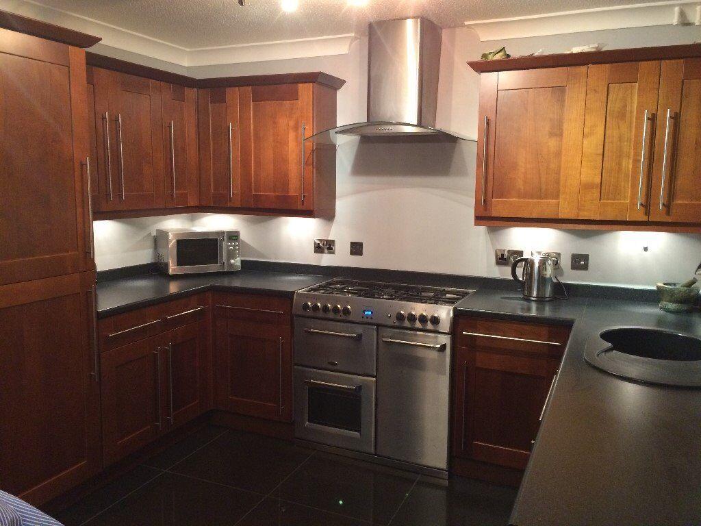 B Q Cherry Wood Kitchen Doors For Sale In Bradford West Yorkshire