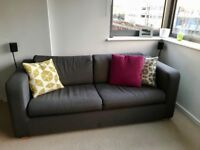 Habitat Porto Charcoal Fabric 3 Seater Sofa Bed