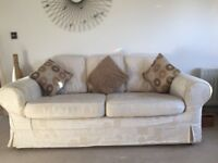 3 Seater Sofa including cushions with machine washable covers