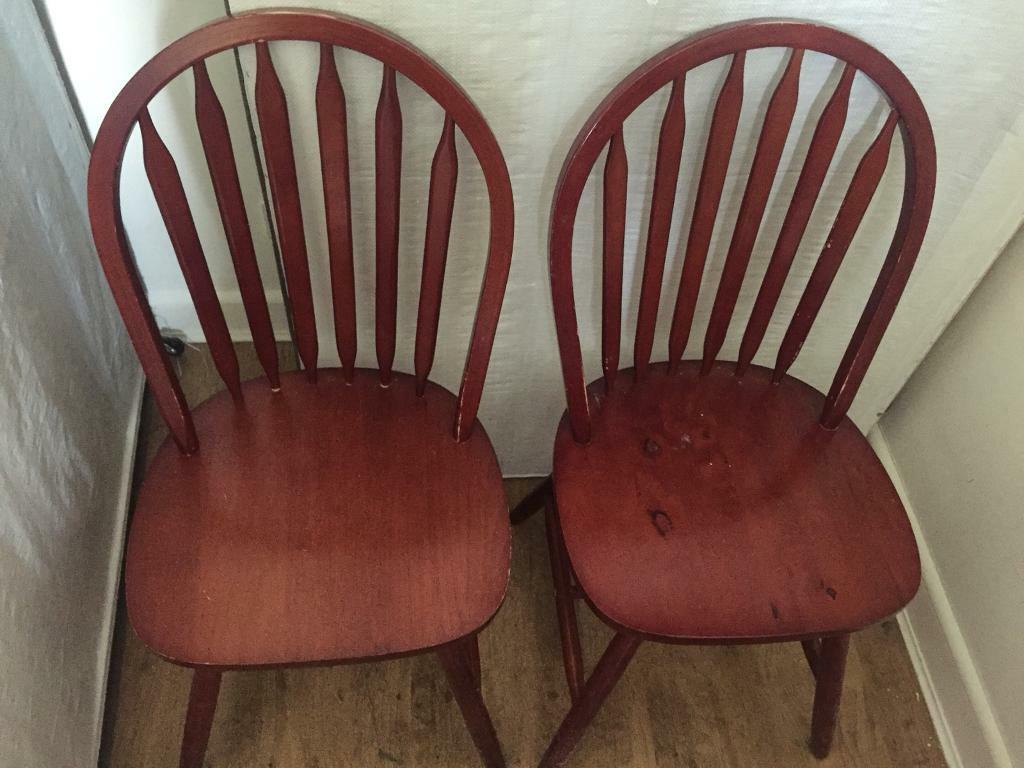 Free two wooden chairs