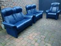 Ekornes Stressless Norwegian Leather Reclining Sofas and Arm Chair Delivery can be arranged