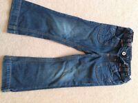 Denim girls jeans M&S age 3-4