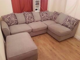 Corner sofa - Year and a half old from furniture village -originally £1099