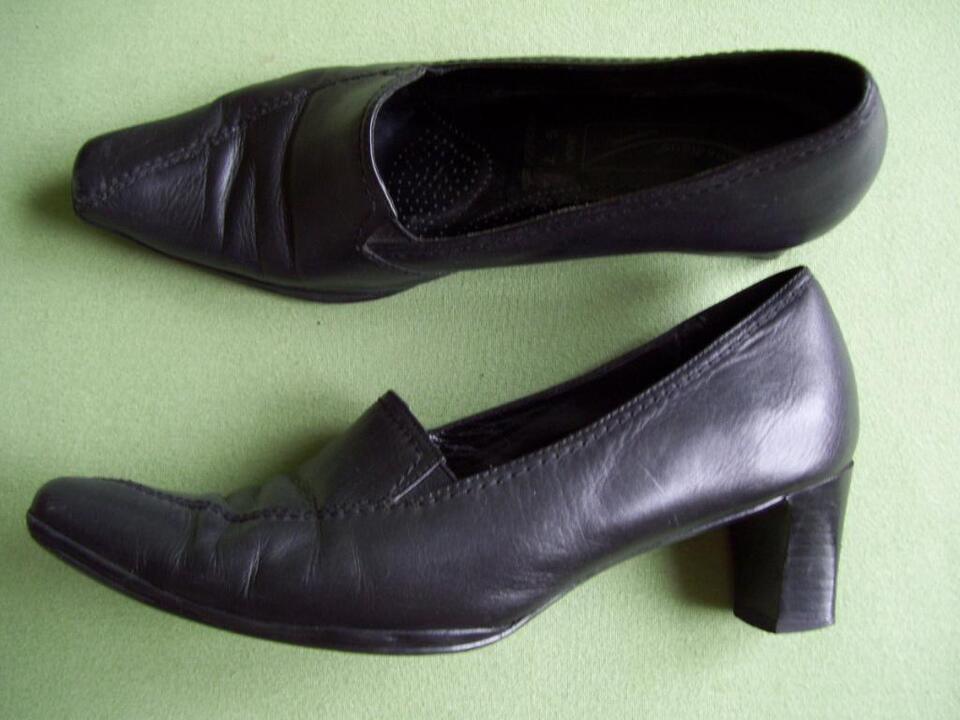Damen Pumps Schwarz Gr.41 Medicus G7 Echt Leder Schuhe Luftpolste