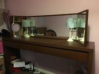 Ikea malam dressing table including mirror