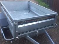 EXTRA large Daxara 167 tipping trailer (both ends drop)
