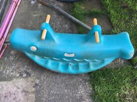 Little Tikes see saw whale