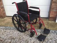 Smart Modern Red Wheelchair