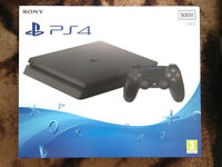 PS4 Slim 500GB Blu-Ray Console (Black New D Chassis) BRAND NEW SEALED