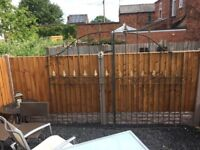 Large Set Of Arched Arrow Head Driveway Security Gates