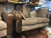 Two Seater sofa, Armchair & foot stool