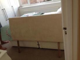 Lovely beige head board. Double size £8