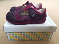 Girls clarks first walking shoes