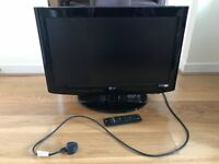 LG 26-inch Widescreen HD Ready LCD TV with Freeview.