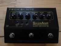 Tech 21 SansAmp Programmable Bass Driver DI (Boxed)